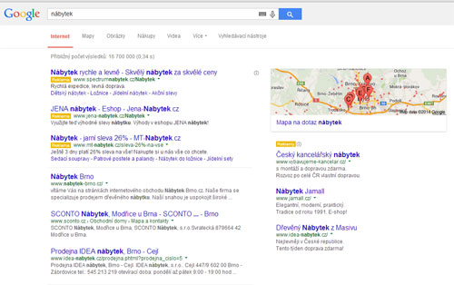 Tipy pro lepší výsledky z vyhledávačů