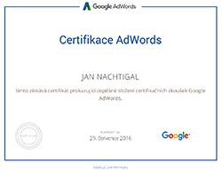 Certifikace Google Adwords