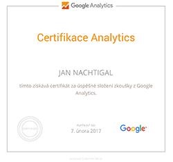 Certifikace Google Analytics